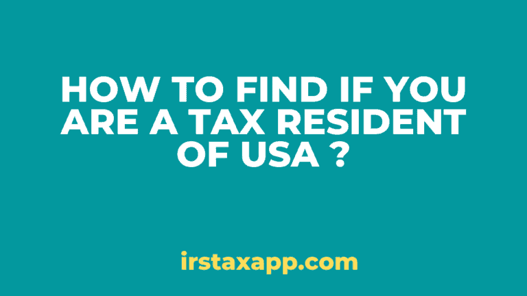 tax resident of USA