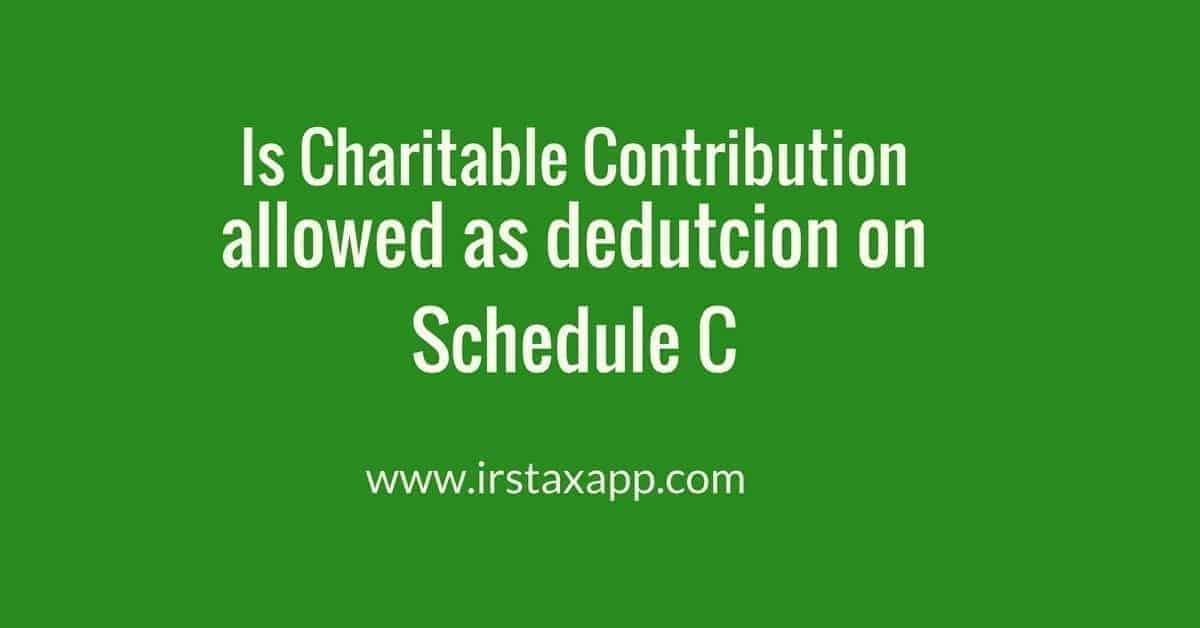 charitable contribution on schedule C
