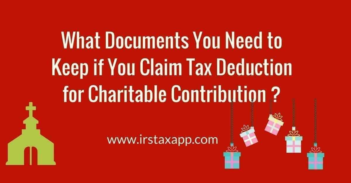 record of charitable contribution
