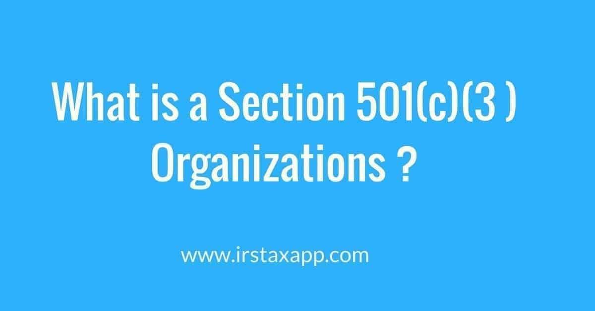 501c 3 Organizations