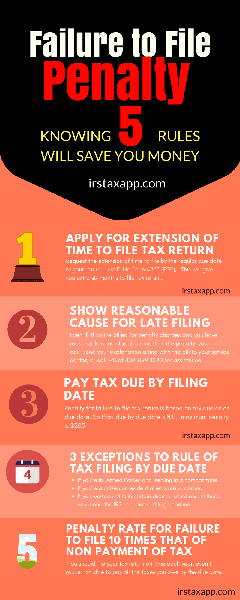 Penalty for filing taxes late how to prevent internal revenue infographics on penalty for filing taxes late falaconquin