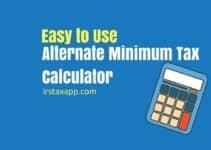 Alternative Minimum Tax Calculator for 2017 & 2018