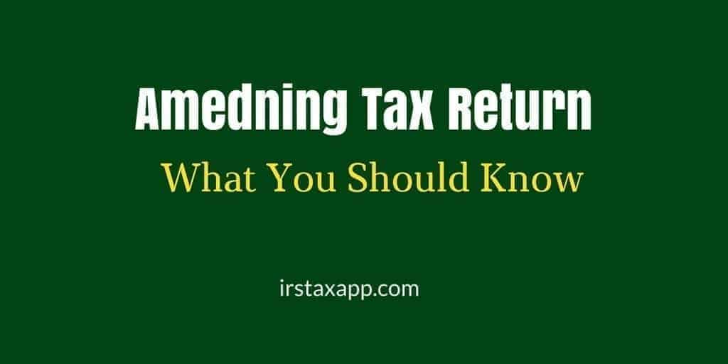 amending tax retrun