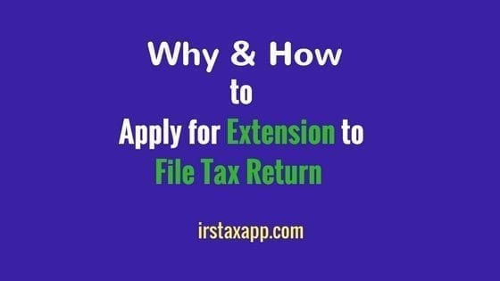 extension to file tax return
