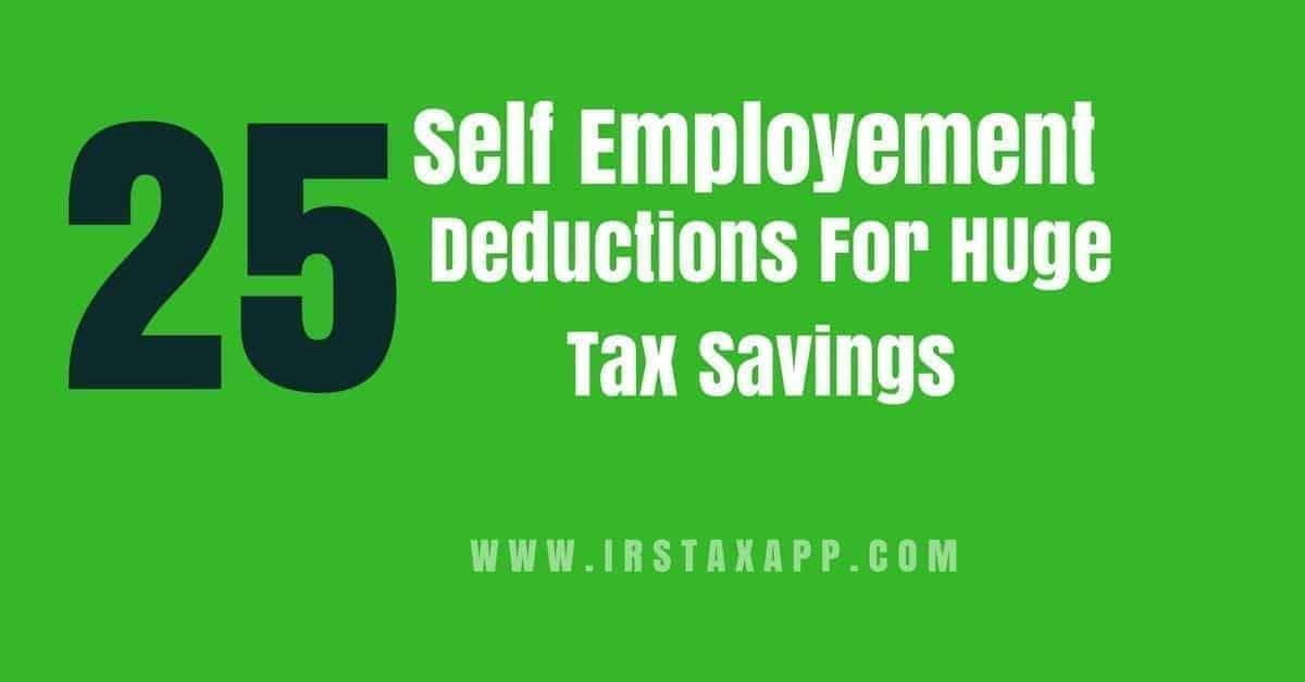 self employment deductions
