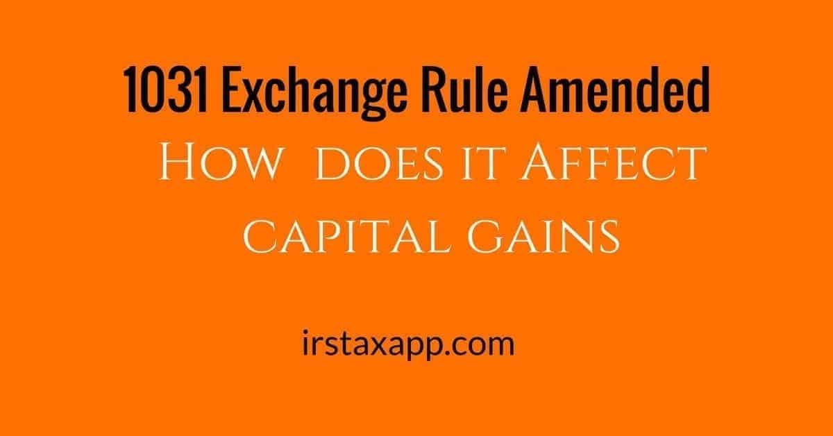 1031 exchange rule