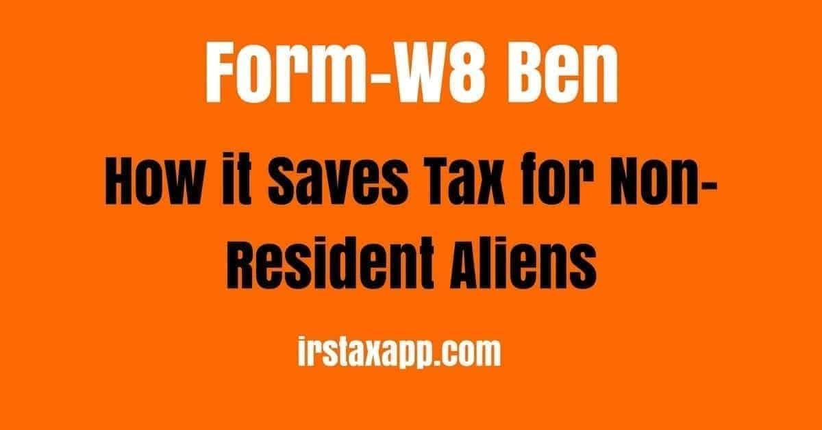 Form W8 Ben