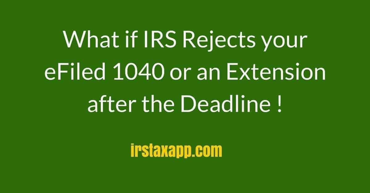 irs rejects 1