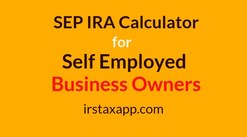 SEP IRA Retirement Calculator