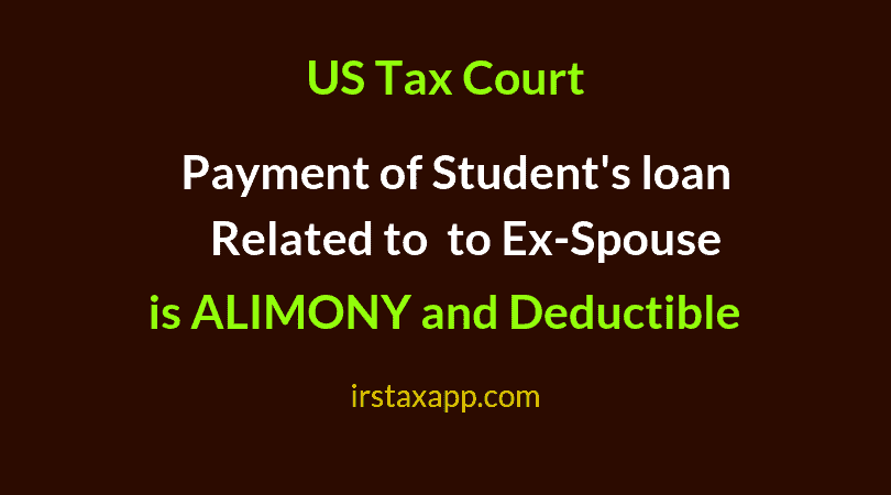 deduction of alimony payments