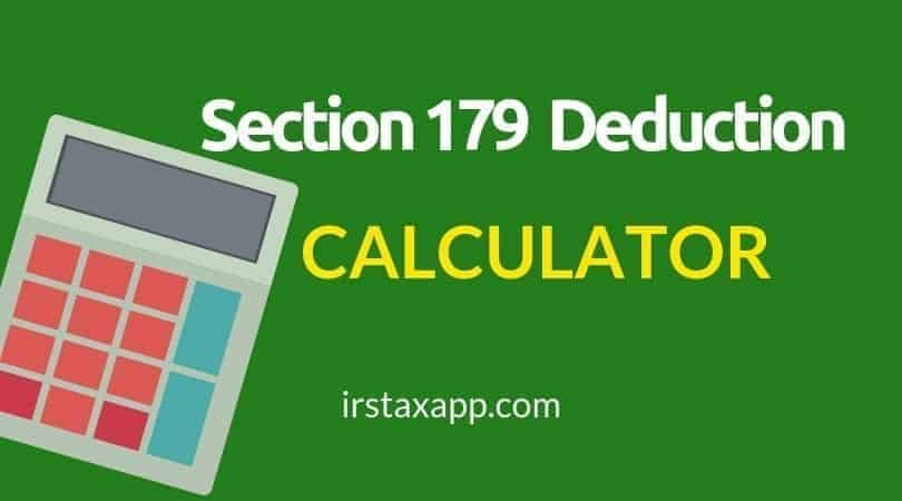 Section 179 Tax Deduction Calculator