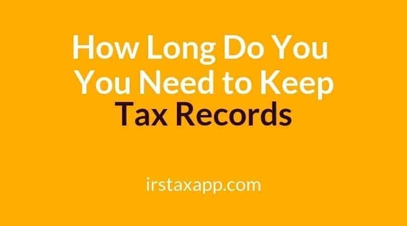 How Long Do You Have To Keep Tax Records Internal Revenue Code Simplified