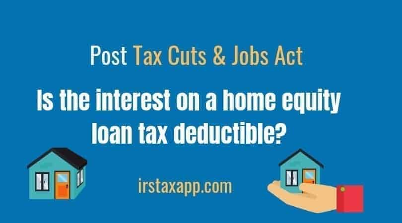 Are home equity loans tax deductible