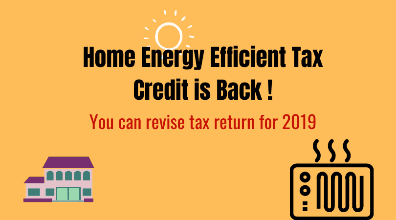 home enegy efficient tax credit