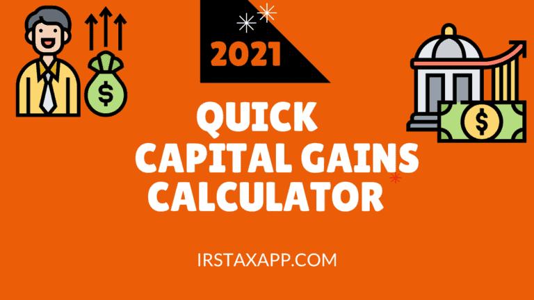 quick capital gains calculator