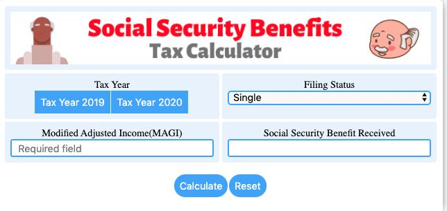 Tax Calculator For Social Security Benefits