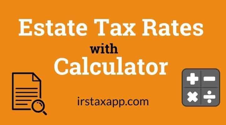 estate tax rates