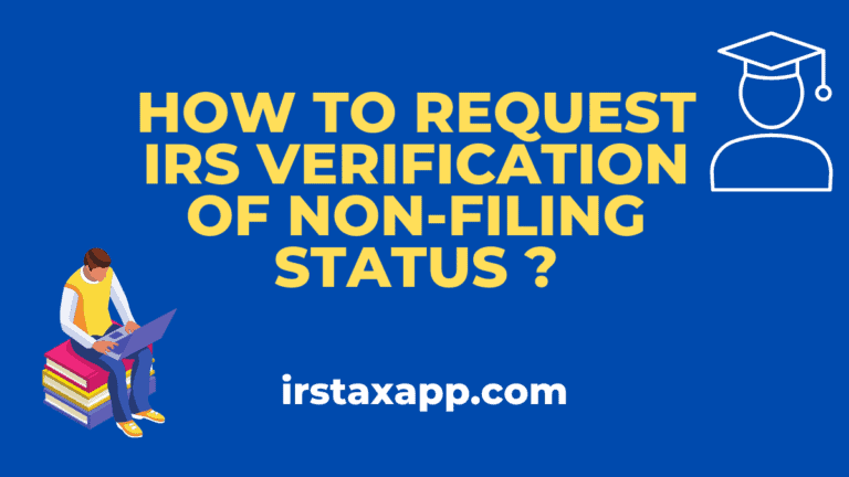 irs verification of non filing letter