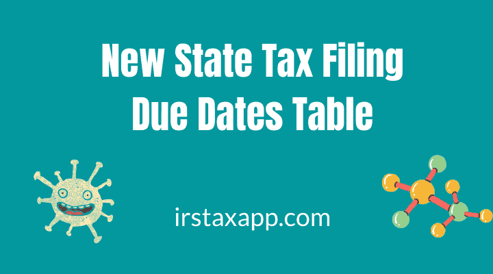 2019 State Tax Due Dates Extensions List
