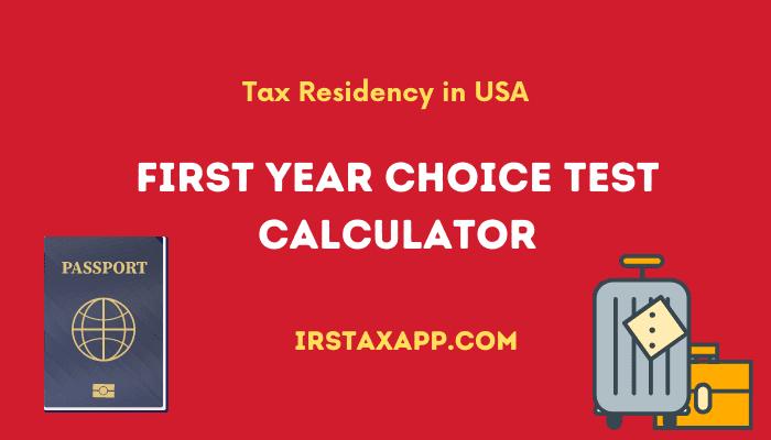 first year choice calculator