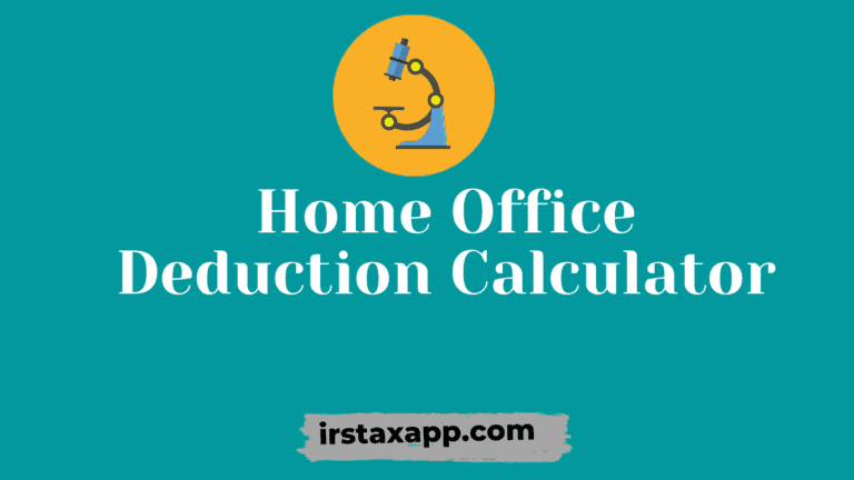 home office deduction calculator