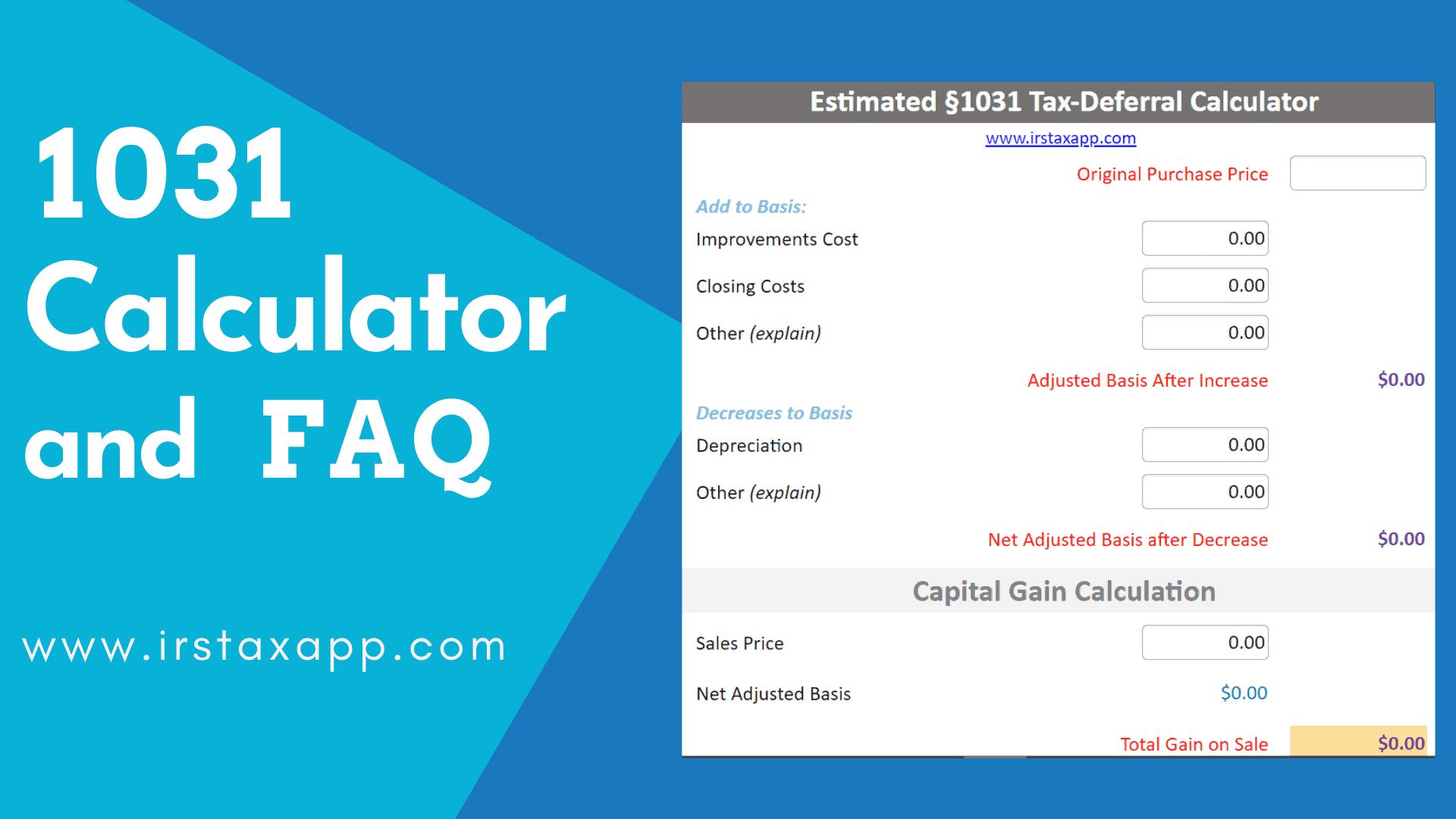 1031 exchange calculator