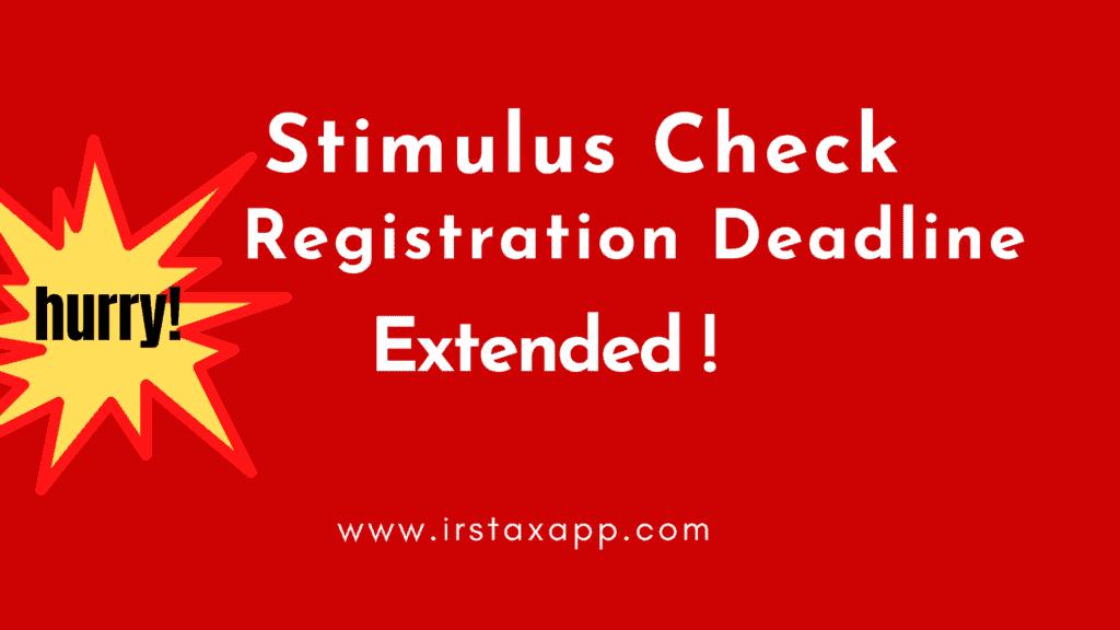 deadline for stimulus check