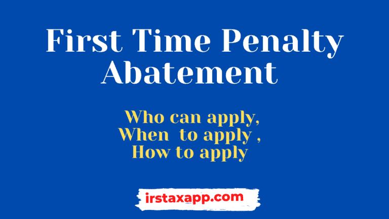 first time penalty abatement