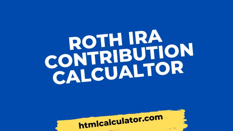 roth ira contribution calculator