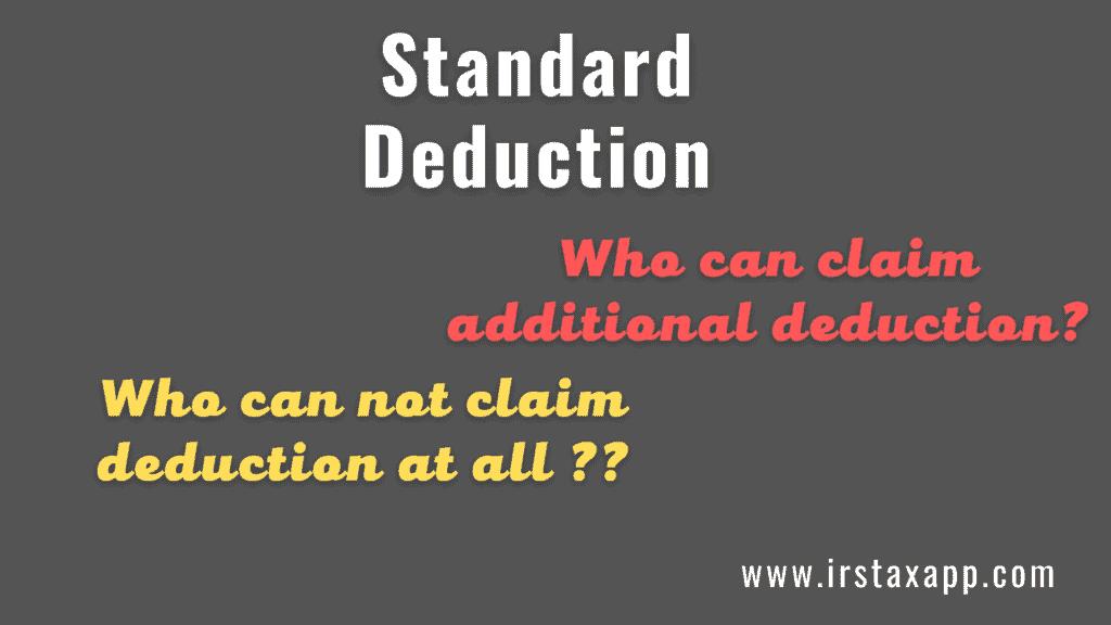 irs standard deduction