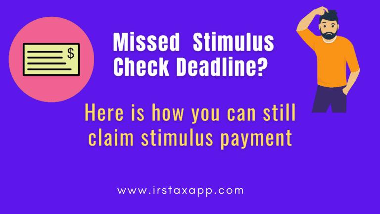 missed stimulus cjeck deadline