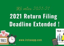 Tax Filing Deadline 2021 for Individuals Extended!