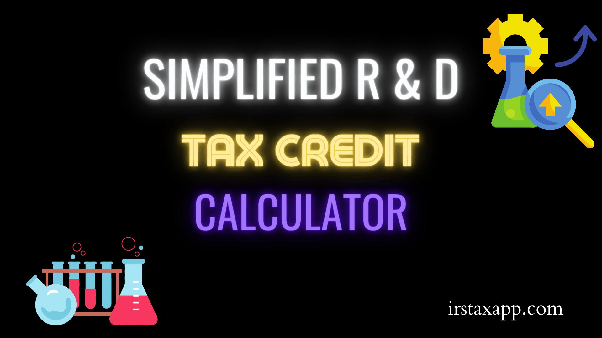 R & D tax credit