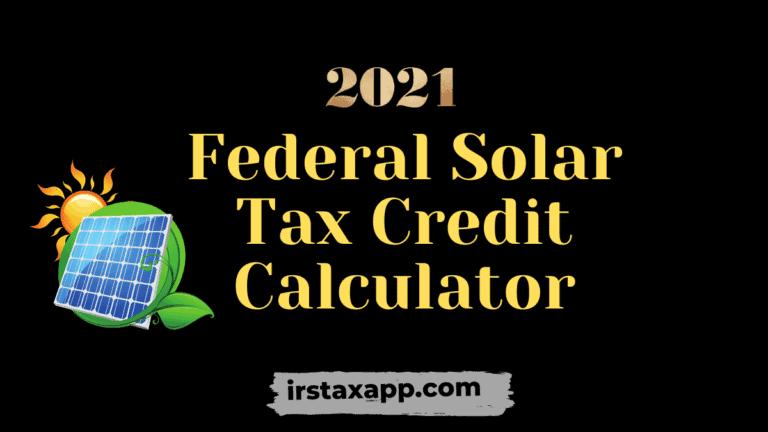 Solar Tax Credit Calculator